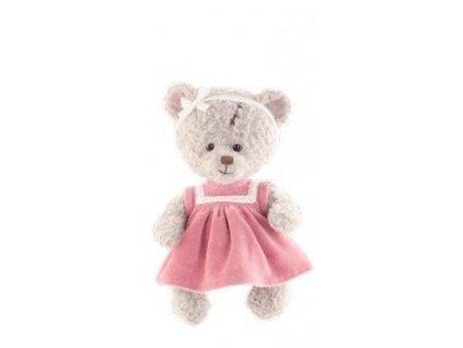 Medvídek Eleonora v sametových šatech (25cm)