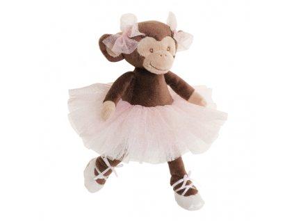 BK SWEET MISSY hnědá opička (25cm) baletka, růžová sukně Bukowski Design NOVINKA