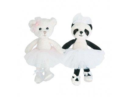 BK CLARA medvídek bílý baletka (15cm) Bukowski Design NOVINKA