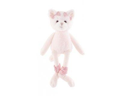 BK MISSY kočka baletka růžové mašličky (25cm)