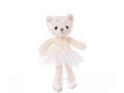 BK ANYA kočka bílá baletka (15cm)