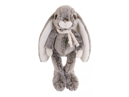 BK CORNELIUS zajíček šedý s šálou (30cm)