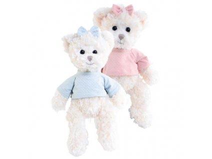 BK CISSI bílý medvěd v růžovém tričku (35cm) NOVINKA