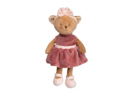 BK BABY MELI medvídek, růžové šaty