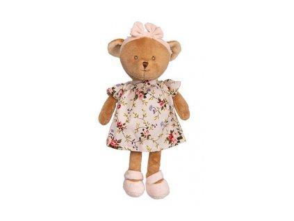 BK BABY MELI medvídek, kytičkové šaty