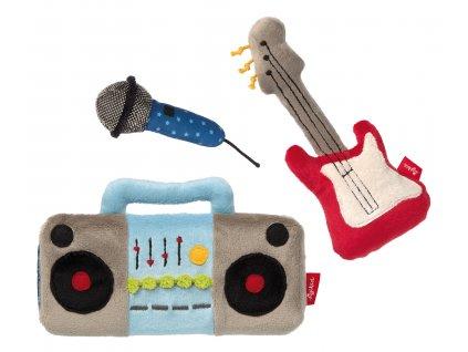 ROCKSTAR hrací set (mikrofon, rádio, kytara)