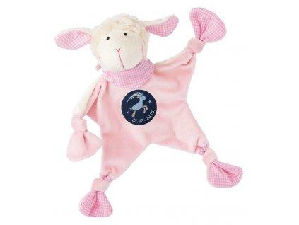 Muchláček znamení - KOZOROH - růžová ovečka