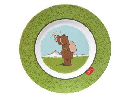 MELAMIN lifestyle medvěd FOREST GRIZZLY talíř