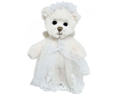 BK BABY HAILEY ANGEL medvěd s bílou stuhou