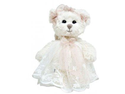 BK BABY HAILEY ANGEL medvídek s růžovou stuhou