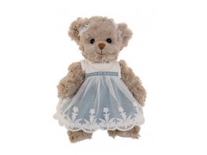 medvídek JOSEFIN (modré šaty)