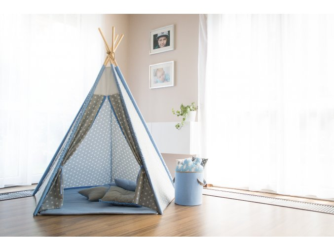 Teepee Star Blue