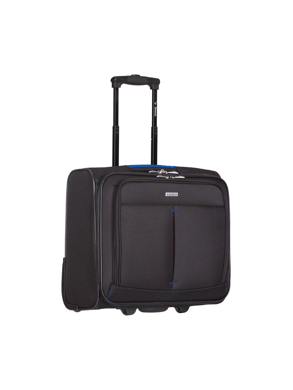 Kufr příruční na notebook Sirocco T-1103 - černá/modrá