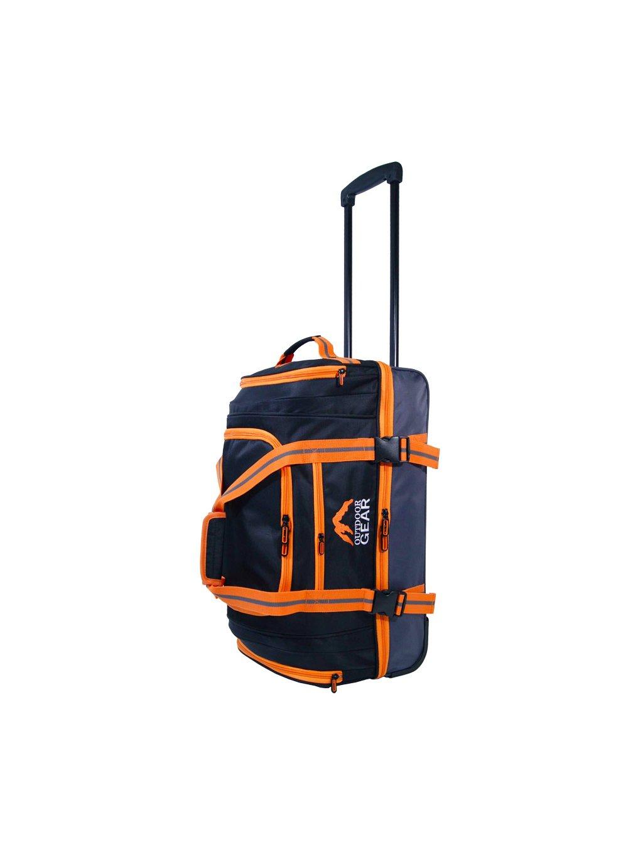 """Cestovní taška na kolečkách GEAR T-805/22"""" - černá/oranžová"""
