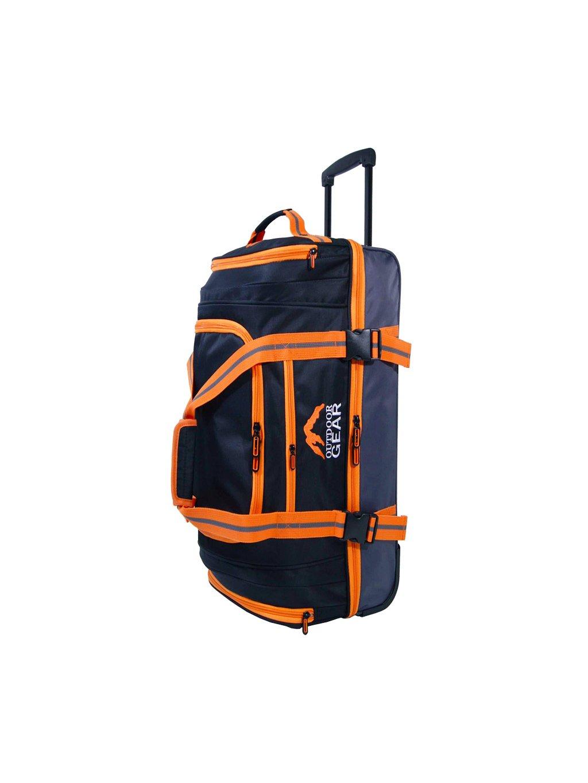 """Cestovní taška na kolečkách GEAR T-805/30"""" - černá/oranžová"""