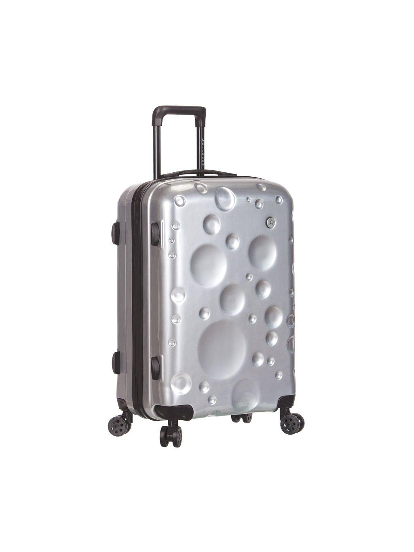 Cestovní kufr SIROCCO T-1194/3-L PC - stříbrná