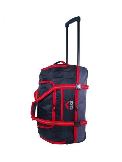 """Cestovní taška na kolečkách GEAR T-805/22"""" - černá/červená"""