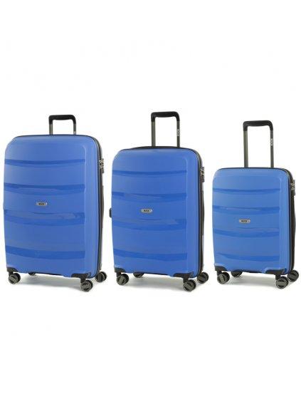 Sada cestovních kufrů ROCK TR-0174/3 PP - modrá