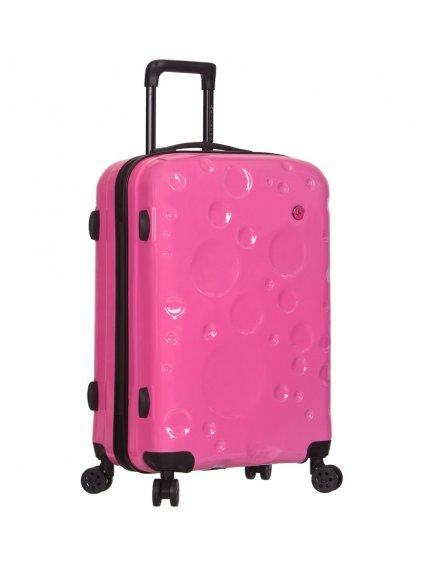 Cestovní kufr SIROCCO T-1194/3-L PC - růžová