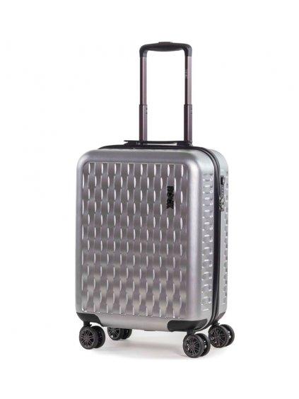 Kabinové zavazadlo ROCK TR-0192/3-S ABS/PC - stříbrná