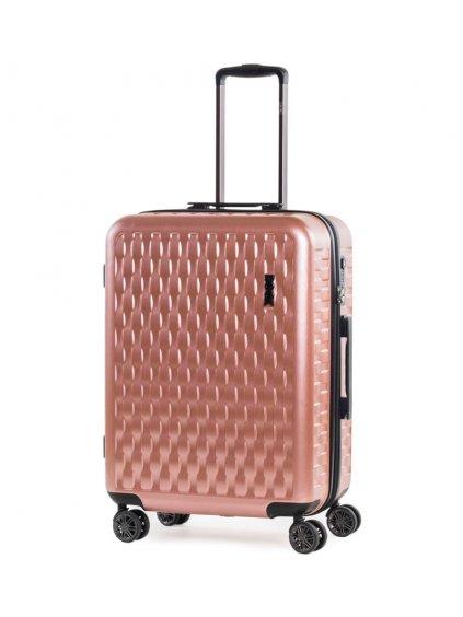 Cestovní kufr ROCK TR-0192/3-M ABS/PC - růžová