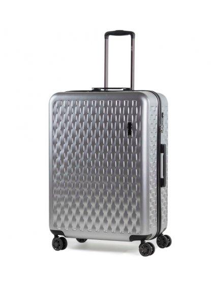 Cestovní kufr ROCK TR-0192/3-L ABS/PC - stříbrná