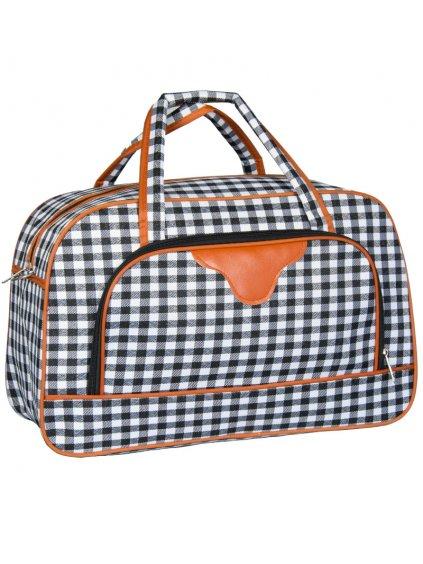 Cestovní taška REAbags LL37 - černá/bílá