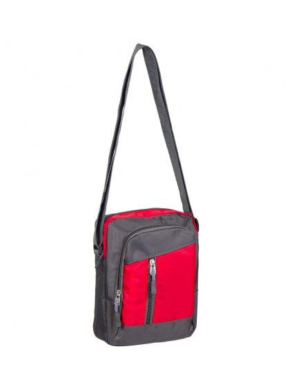 Taška přes rameno REAbags LL22 - šedá/červená