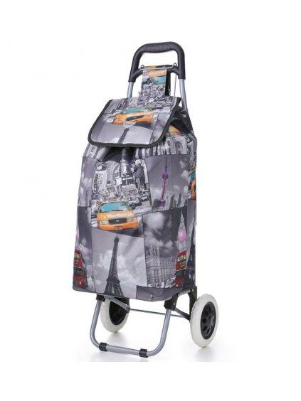 Nákupní taška na kolečkách HOPPA ST-325 - šedá