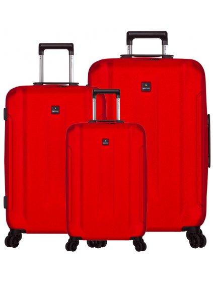 Sada cestovních kufrů SIROCCO T-1177/3 ABS - červená