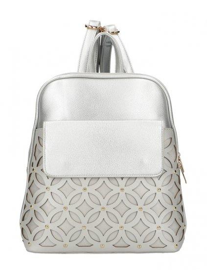 Stříbrný dámský módní batůžek v perforovaném designu AM0109