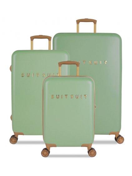 Sada cestovních kufrů SUITSUIT® TR-7103/3 - Fab Seventies Basil Green