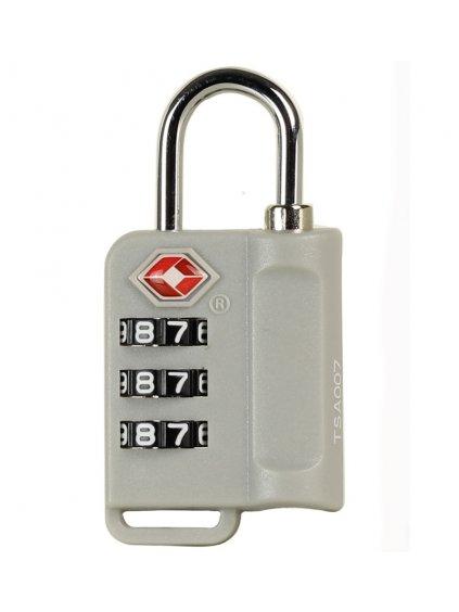 Bezpečnostní TSA kódový zámek na zavazadla ROCK TA-0006 - stříbrná