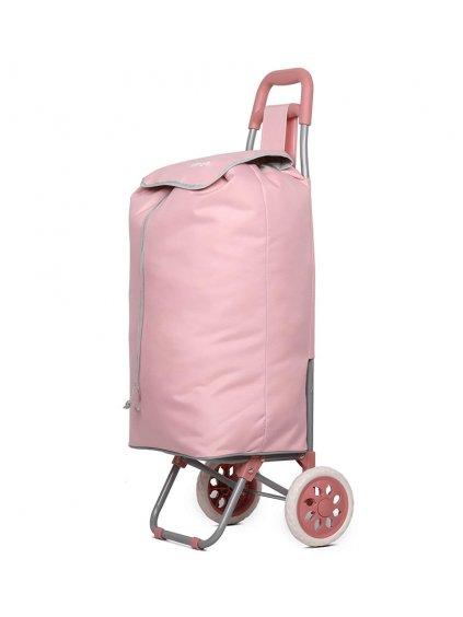 Nákupní taška na kolečkách HOPPA ST-40 - růžová