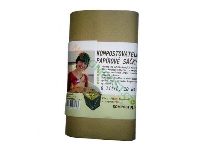 Kompostovatelné papírové sáčky 9 litrů 10ks