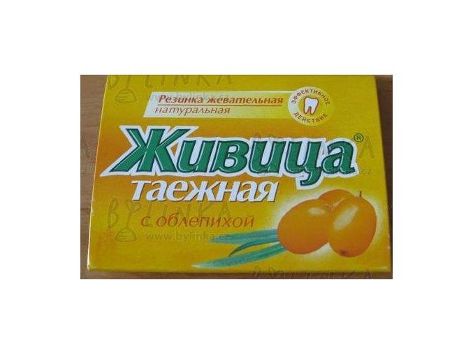 Sibiřská žvýkací pryskyřice s rakytníkem 5 tablet