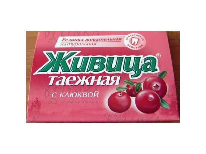 Sibiřská žvýkací pryskyřice s klikvou 5 tablet