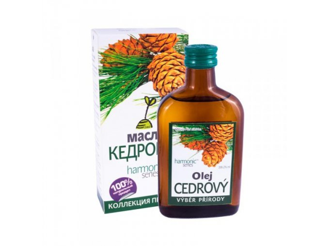 100% cedrový olej z oříšků cedru sibiřského 100ml