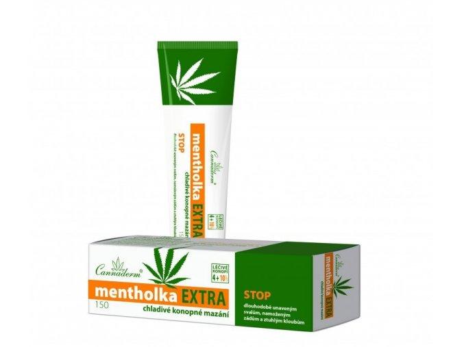 Cannaderm Mentholka chladivý masážní gel EXTRA 150g