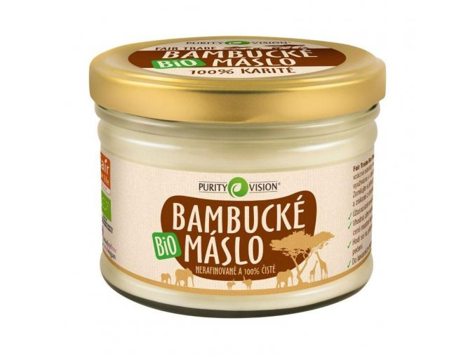 Purity Vision Prémiové Bio Bambucké máslo 350ml