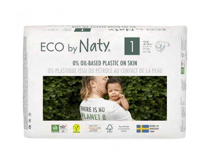 Plenky Naty Nature Babycare Newborn 2-5 kg (26 ks)