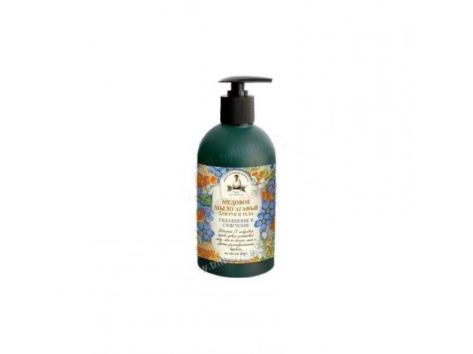 recepty babicky agathy tekute mydlo na ruce a telo med 500ml1