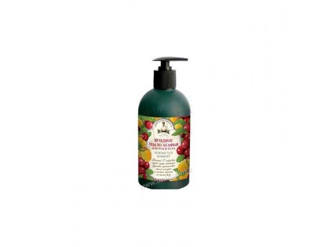 recepty babicky agathy tekute mydlo na ruce a telo s bobulovinami 500ml
