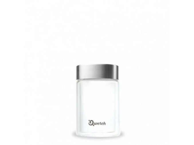 double walled glass espresso mug steel lid 160ml
