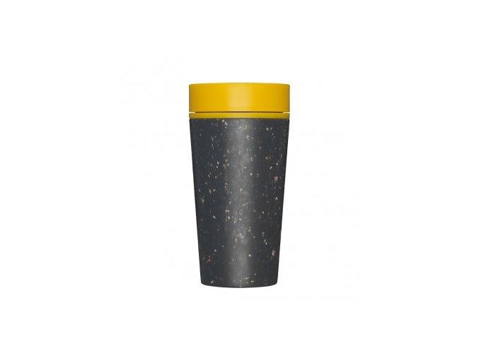 rcup opakovane pouzitelny kelimek na kavu z recyklovanych kelimku zluta black and mustard