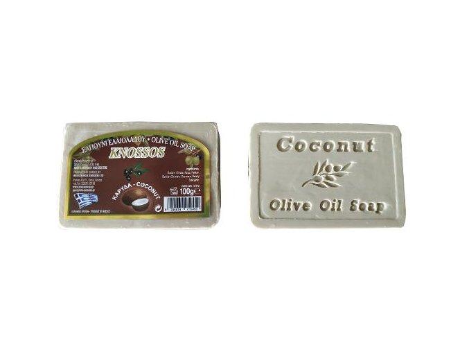 olivové mýdlo s vůní kokosu