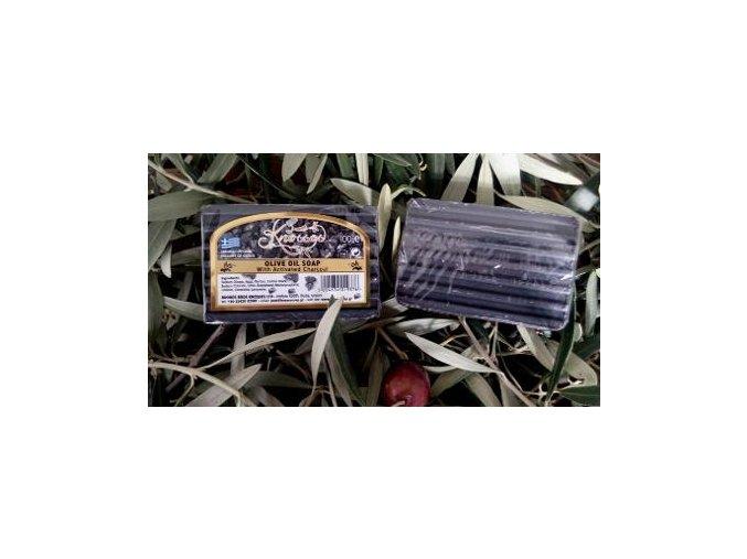 Černé olivové mýdlo s aktivním uhlím 100gr