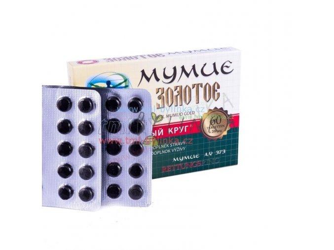 Ruská tradiční bylinná péče Mumio zlaté 60tablet