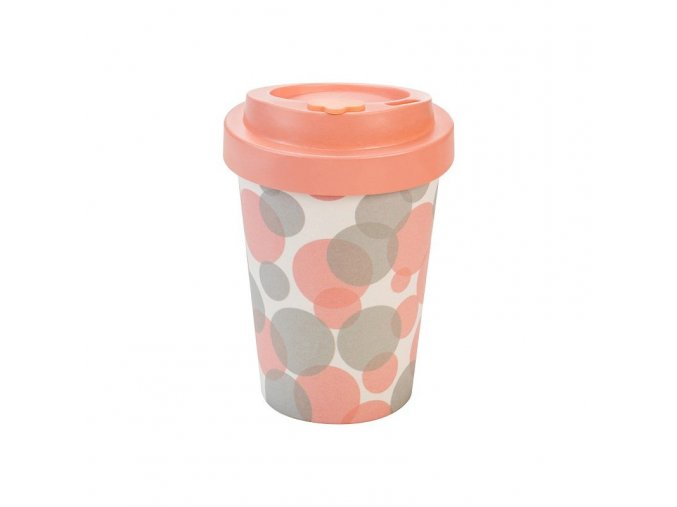 opakovane pouzitelny kelimek na kavu woodway bubbles pink 300 ml