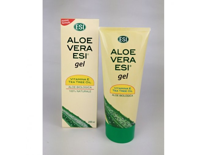 100 prirodni aloe vera gel s vitaminem e a tea tree 200 ml esi